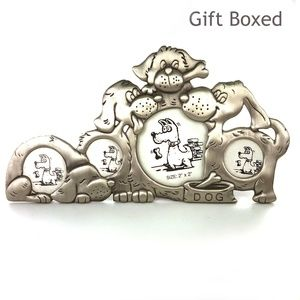 Other - Multi Dog Picture Frame Silver Gift Box New